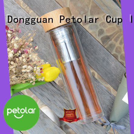 Petolar Best glass drinking water bottles company for sport