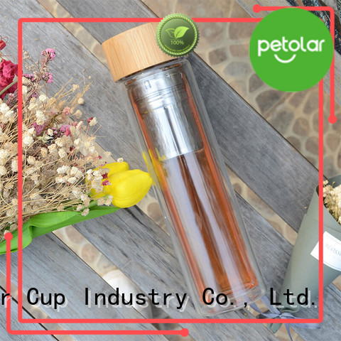 Petolar glass drinking water bottles company for safety