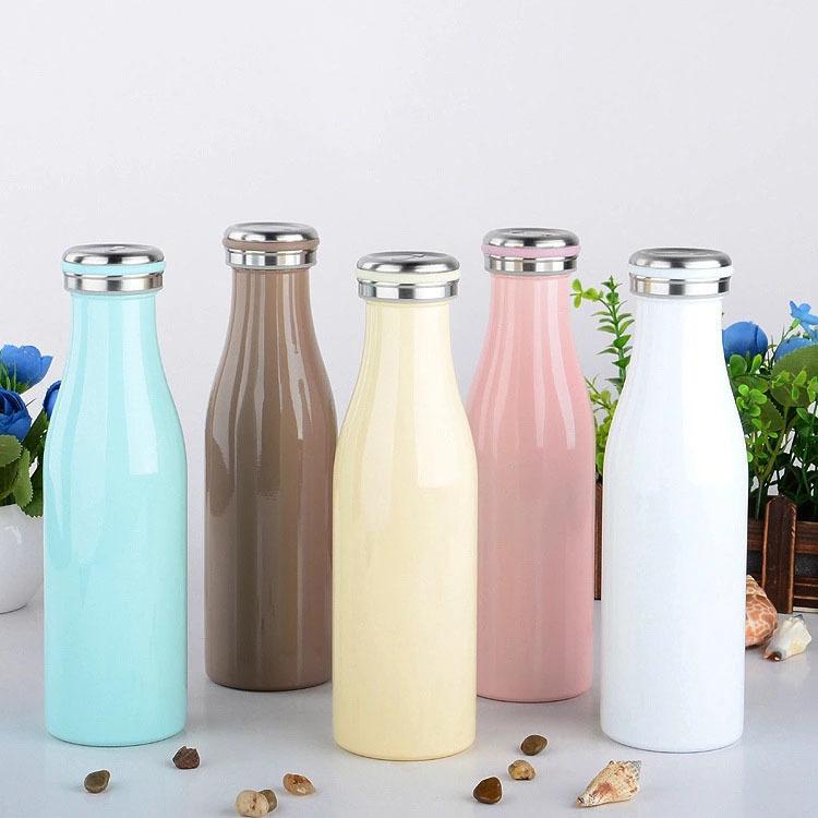 Stainless Steel  Water Bottle Double Walls 304 Milk Water Drink Bottle