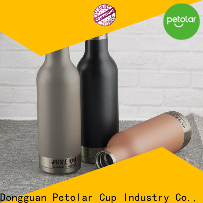 Petolar Latest stainless steel vacuum insulated water bottle for business for safety