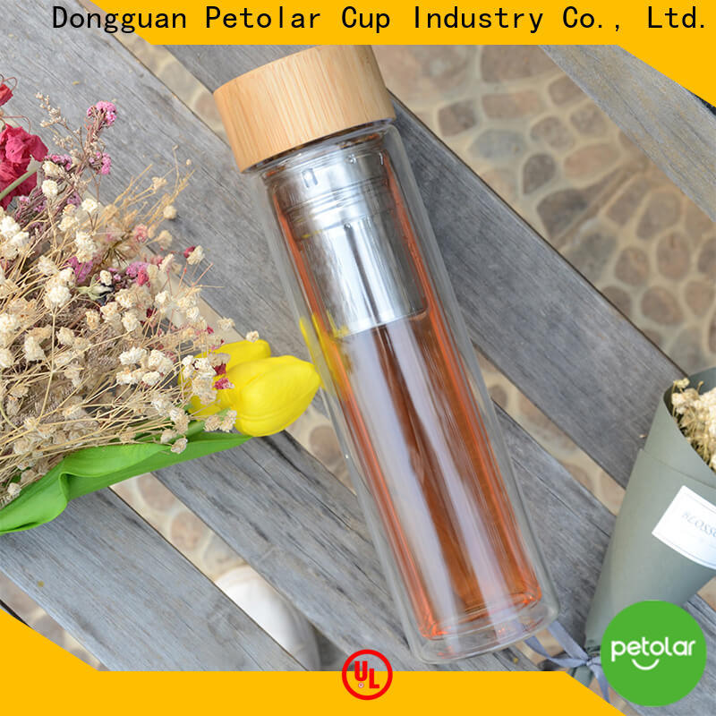 Petolar Custom reusable glass water bottles Suppliers for travel