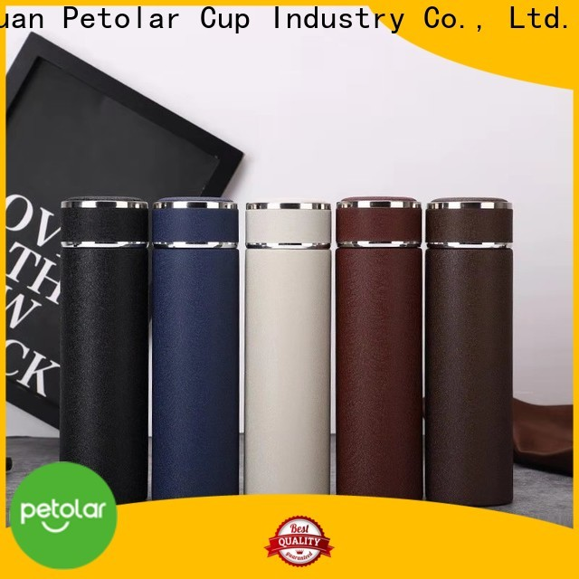 Petolar Custom vacuum stainless steel water bottle manufacturers for safety
