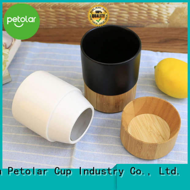 Petolar ceramic coffee cup with lid Supply for safety