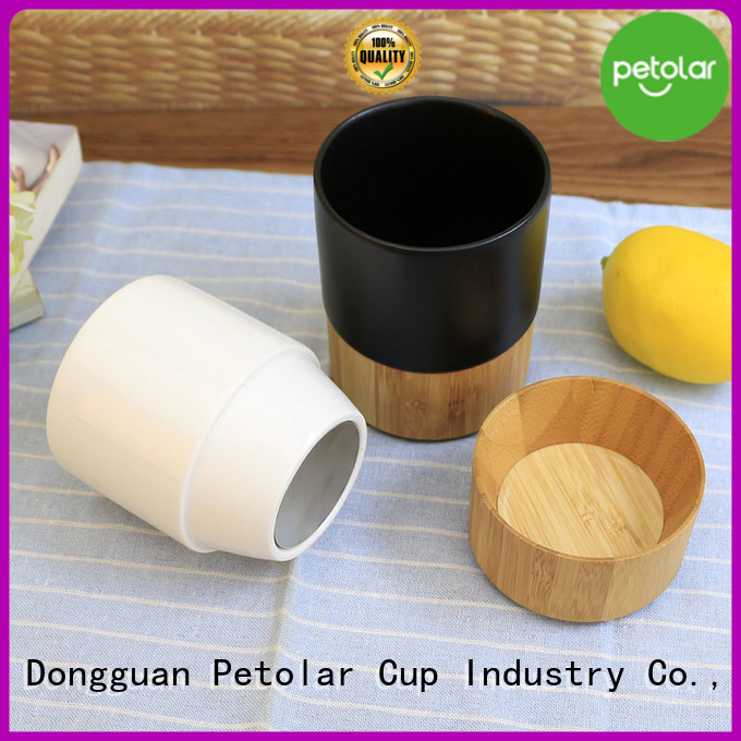 Petolar Top ceramic coffee mug with lid factory for sport