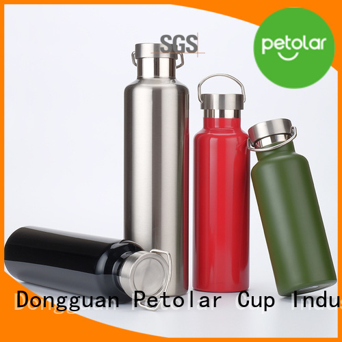 Petolar Custom bpa free stainless steel water bottle Suppliers for sport